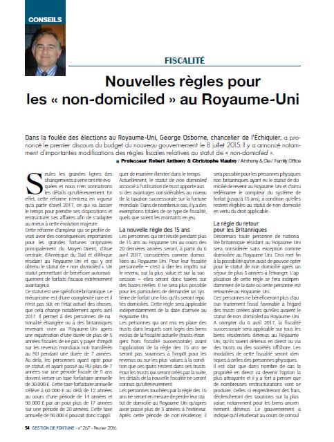 16 02_Gestion de Fortune_Nouvelles règles pour les non-domiciled au RU_PAGE 1